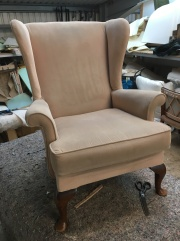 Parker Knoll wingback chair - before
