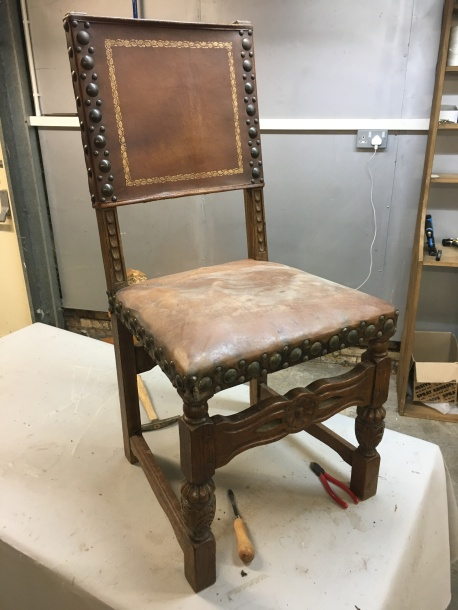 Antique chair - before