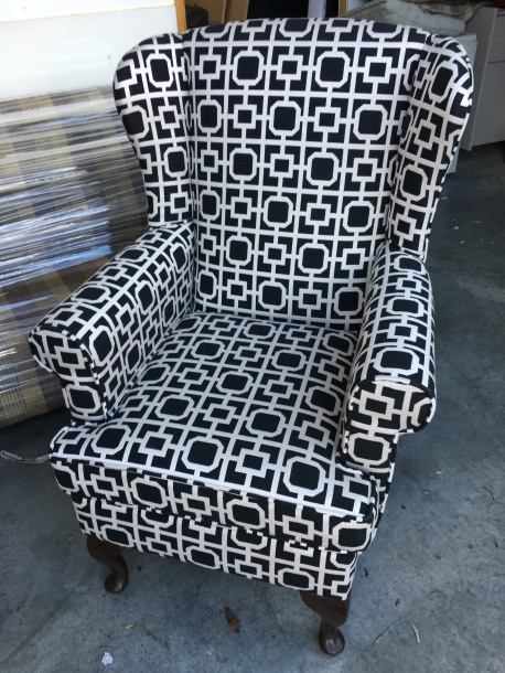 Black & white wingback