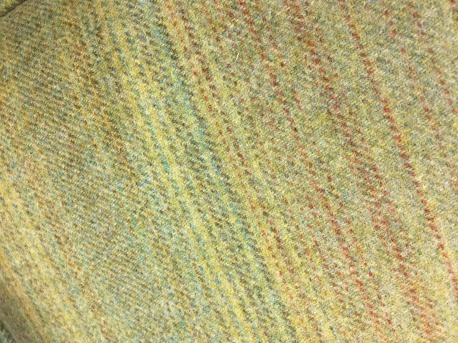 Green stripe wool detail