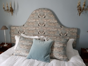 Moth headboard & cushions