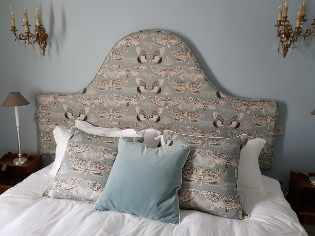 Moth headboard & cushions