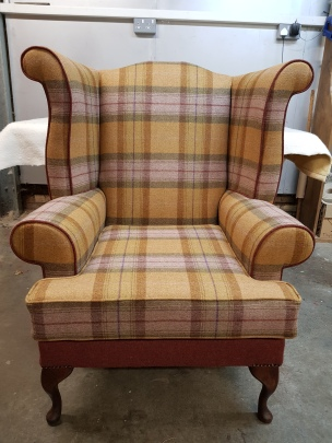 Wingback chair front