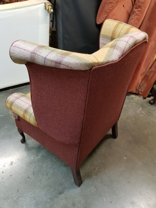Wingback chair rear