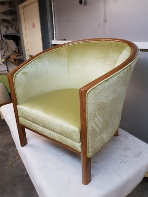 Green tub chair