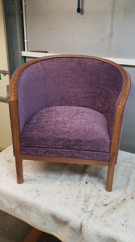 Purple tub chair