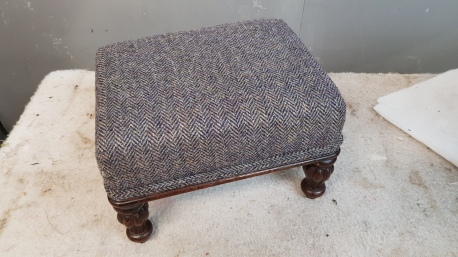 Small Harris Tweed footstool