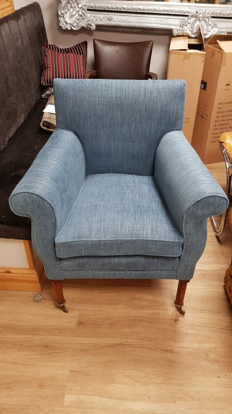 Blue Georgian chair