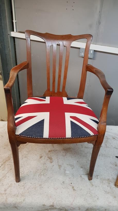 Union flag chair