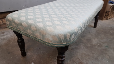 Pale blue footstool
