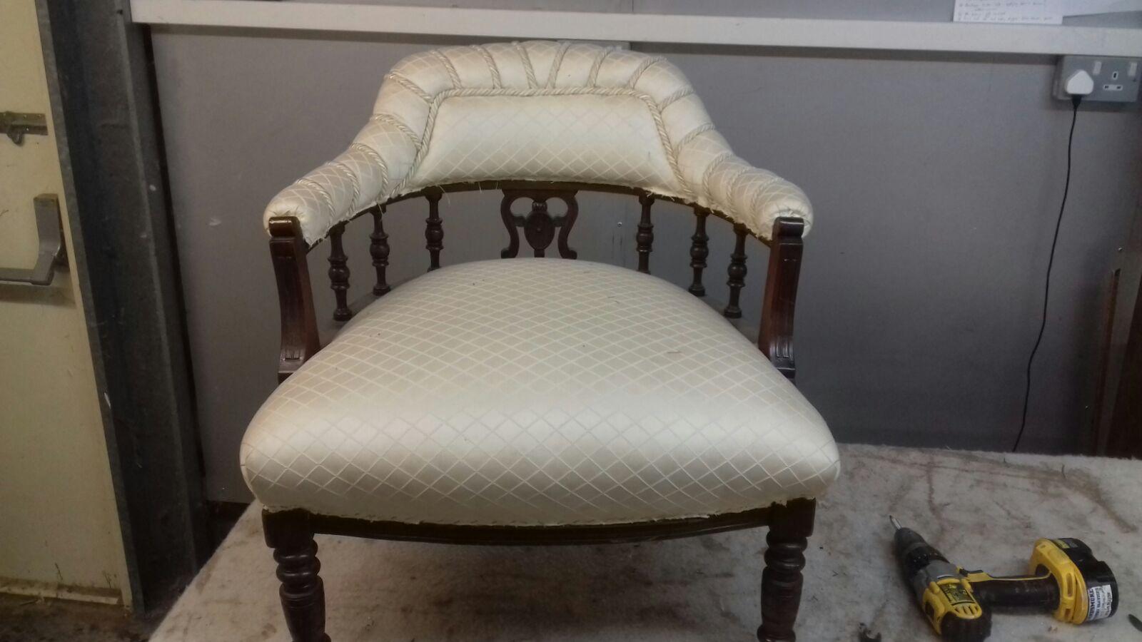 Edwardian Armchair In Velvet Krs Upholstery
