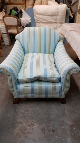 Silver armchair - before