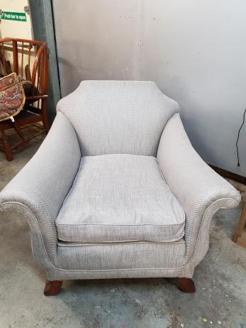 Silver armchair