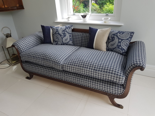 Houndstooth sofa
